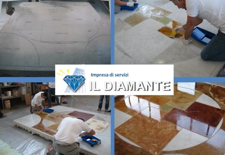 Superfici in resina e micro cemento - Il Diamante sas